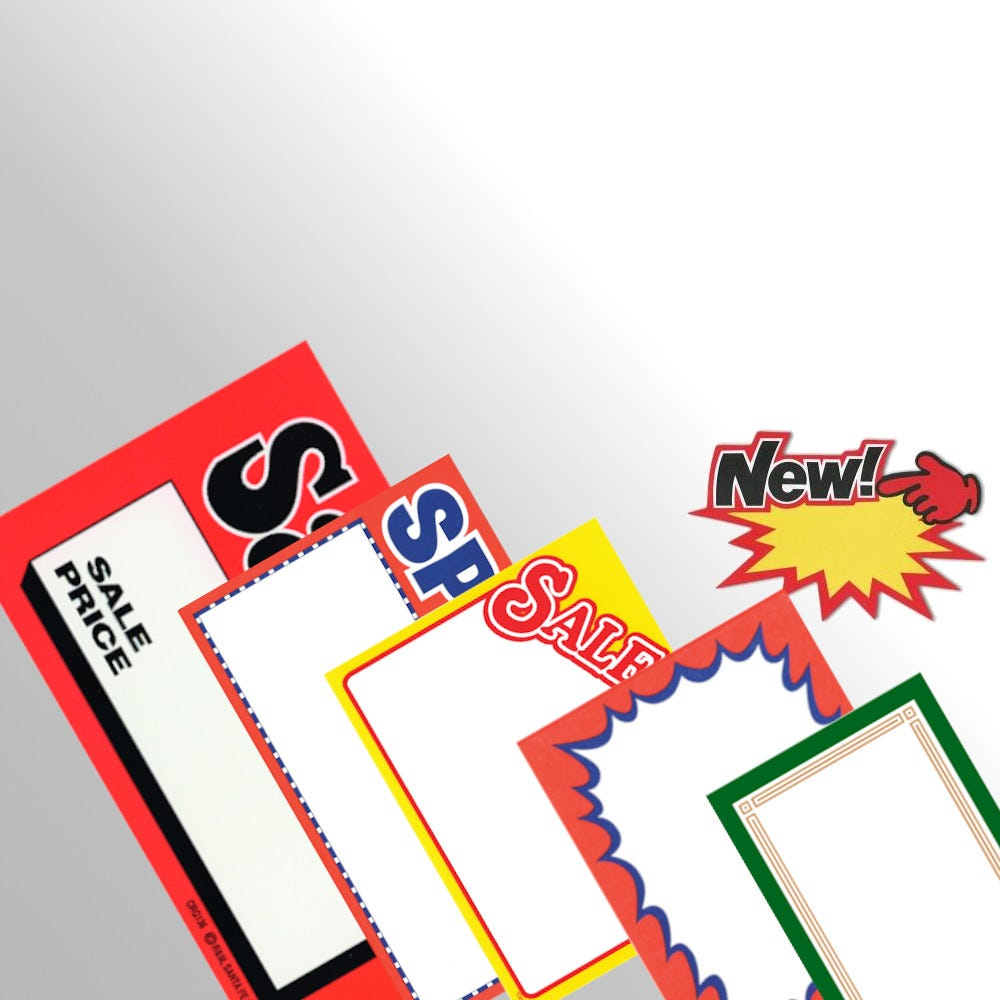 Blank Price & Sign Cards