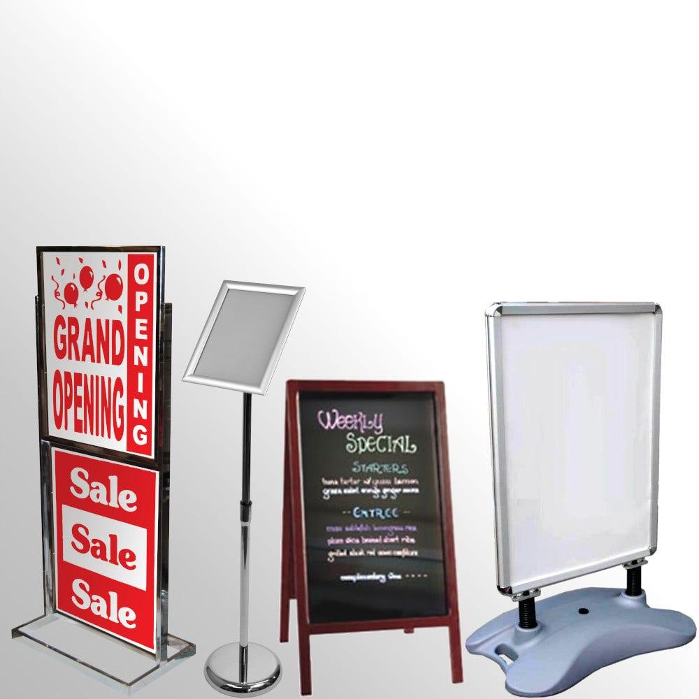 Floorstanding Sign Holders & Easels