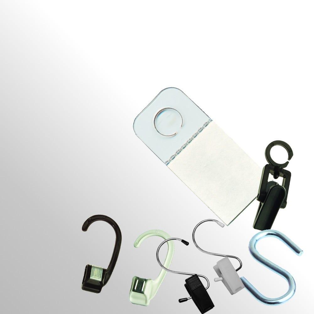 Merchandise Clips, Hooks & Tabs