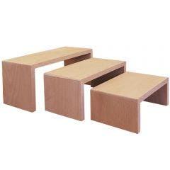 Medium rectangular wooden riser set