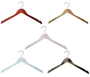 Wooden Top Hangers   Flat   100 Pk