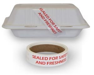 Take-Out Food Container Seals | Tamper Proof | 500 Per Roll