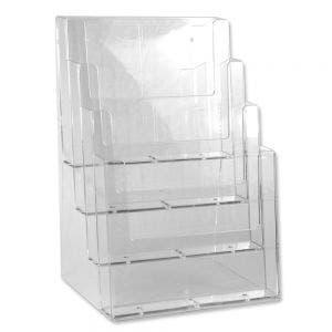 Multi-Compartment Full Page Literature Holder