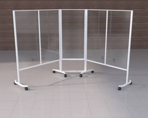 Mobile Barriers for Physical Distancing | White Semi-Gloss