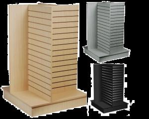 Four Way Slatwall Merchandiser Display Stand