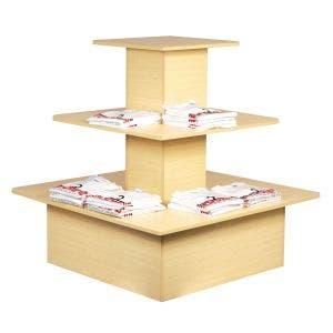 Three-tiered laminate display table