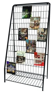 6 Tier Magazine & Literature Display Rack