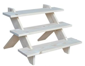 Wooden 3 Step Product Riser