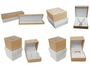 Hinged Jewellery Boxes | Natural Wood Pattern