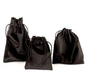 Black Velvet Pouches | 12 Pk | Jewellery Bags w/ Drawstring