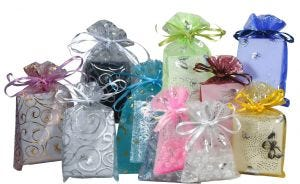 Organza Bags | Patterns| Assorted Colours
