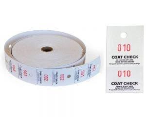 Coat Check Tags | 2 Part