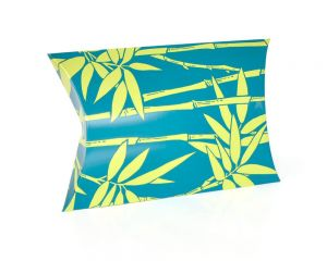 Bamboo Motif Pillow Box