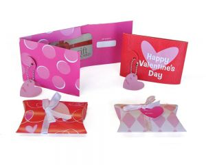 Valentines Gift Card Envelopes and Pouches