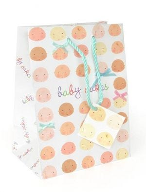 Baby Cakes Paper Shopper   Small