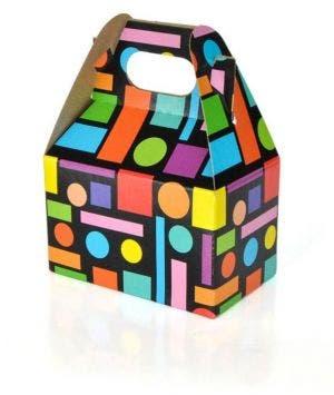 Gable Box Small | Squares and Dots
