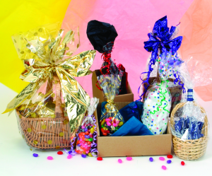 Clear and Printed Cellophane Gift Bags | Without Gusset