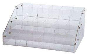 18 Compartment Three Level Counter Display (16