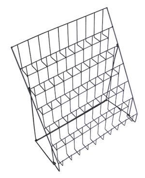 Six Tier Wire Countertop Literature Rack