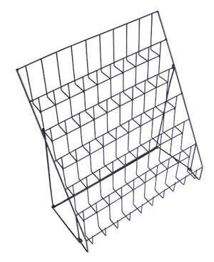 Six Tier Wire Countertop Literature Rack