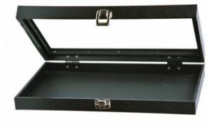 Jewellery Tray With Acrylic Lid - Black