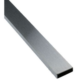 Brushed Chrome Rectangular Tubing 1/2