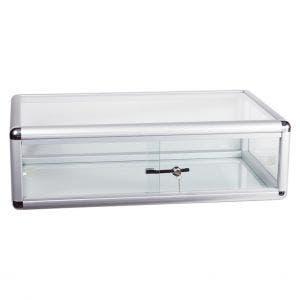 Silver Aluminum Countertop Display Case - 30