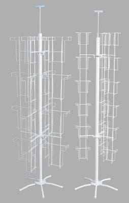 Floor Standing Literature & Brochure Spinners   White